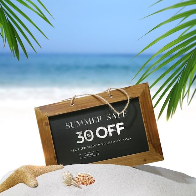 Summer sale frame & background Premium Psd