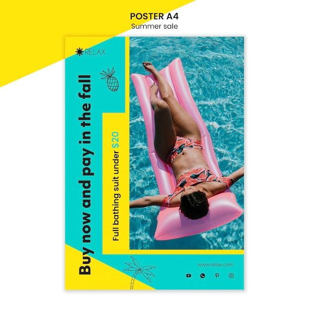 夏のセールポスターテンプレート 無料 Psd