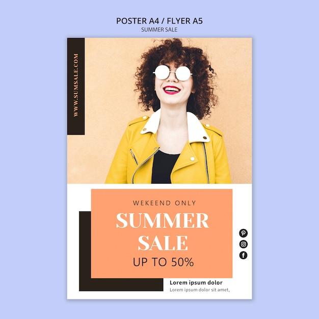 Летняя распродажа постер шаблон Бесплатные Psd