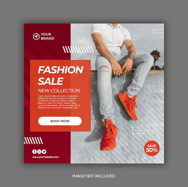 Summer sale promotion for social media instagram post banner template Premium Psd