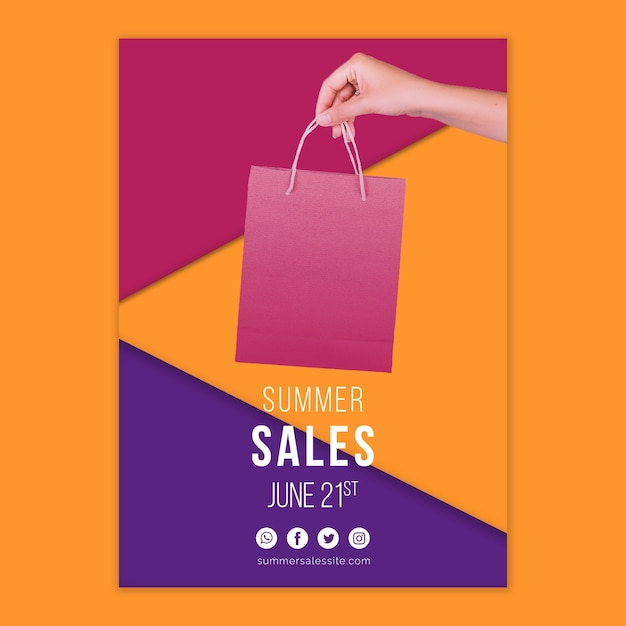 Summer sales cover template Free Psd