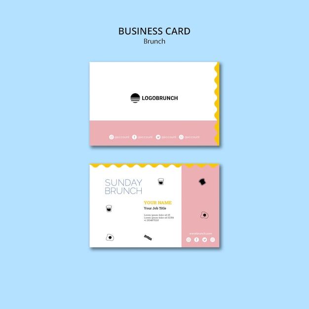 Sunday brunch business card template Free Psd