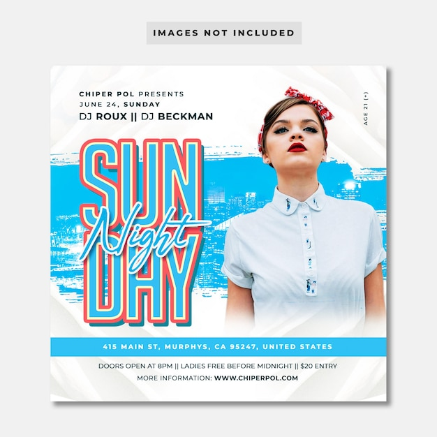 Sunday night flyer Premium Psd