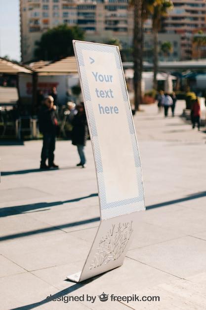Sunny exhibition board mockup Free Psd