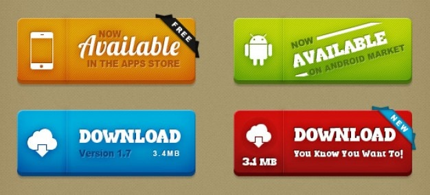 Super buttons kit Free Psd