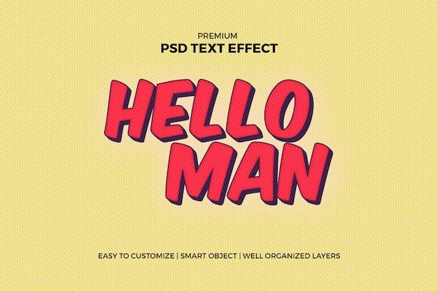 슈퍼 히어로 만화 텍스트 효과 프리미엄 PSD 파일