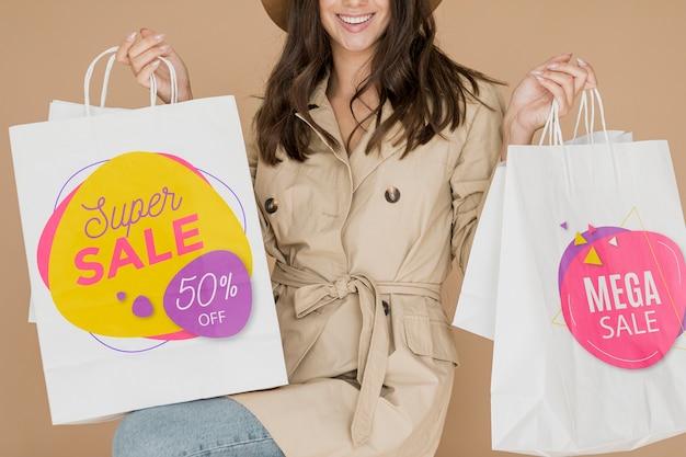 Super promozioni commerciali disponibili per le donne Psd Gratuite