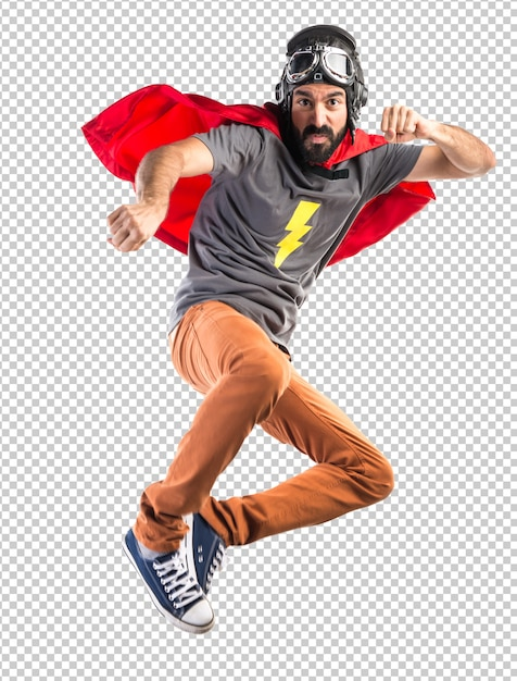 Superhero giving a punch Premium Psd