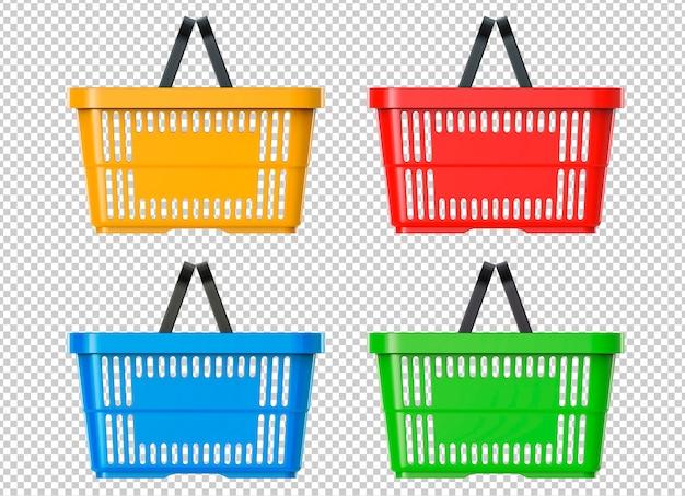 Супермаркет пластиковая корзина Premium Psd