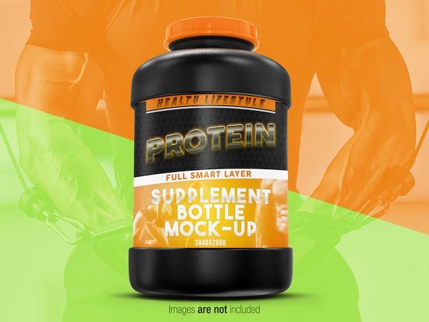 Supplement bottle mock-up front vew Premium Psd