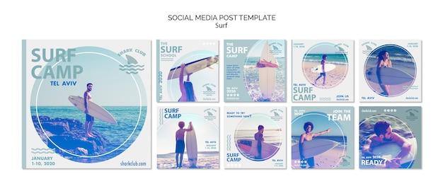 Navigare modello di post social media Psd Gratuite