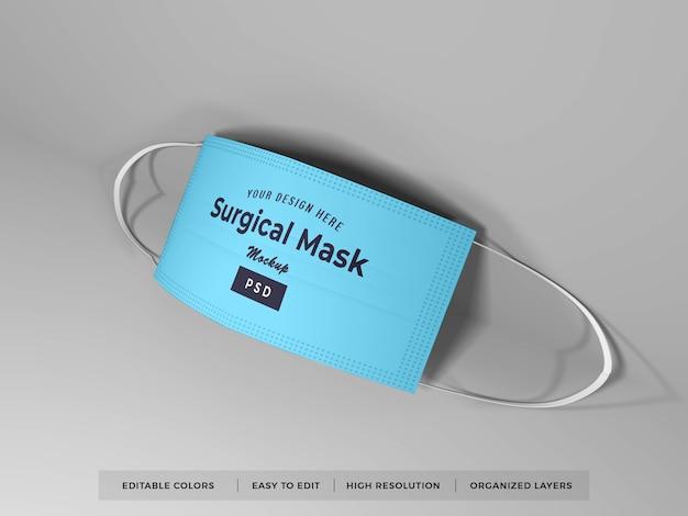 サージカルフェイスマスクモックアップ Premium Psd