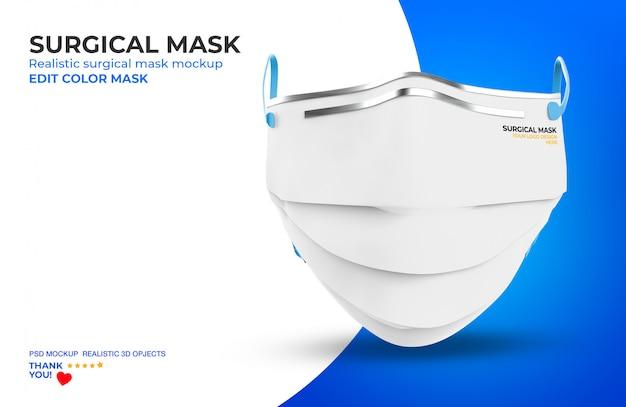 Surgical mask mockup Premium Psd