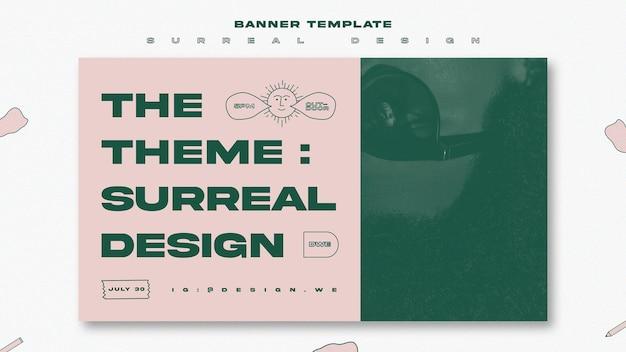 シュールなデザインのイベントバナーテンプレート 無料 Psd