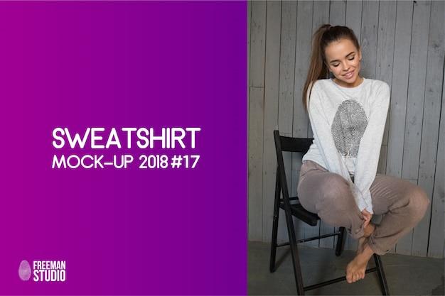 Sweatshirt mock-up Premium Psd