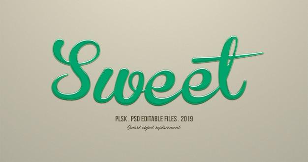 Sweet 3d text style effect Premium Psd