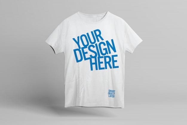T-shirt front design mockup template Premium Psd