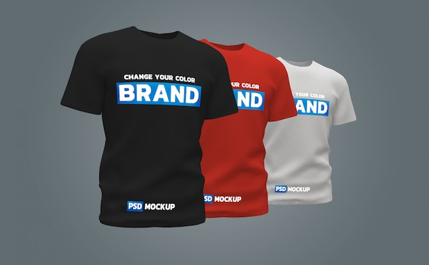 Tシャツモックアップ3dレンダリングデザイン Premium Psd