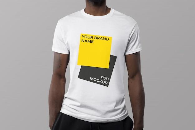Plain Yellow T Shirt Mockup