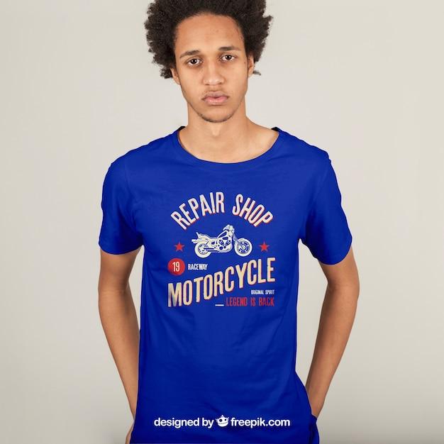 T-shirt print concept Free Psd