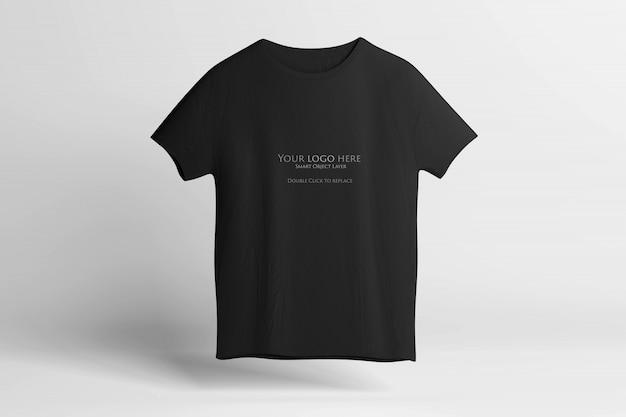 黒のtシャツのモックアップ Premium Psd