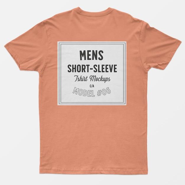 メンズ半袖tシャツモックアップ 無料 Psd