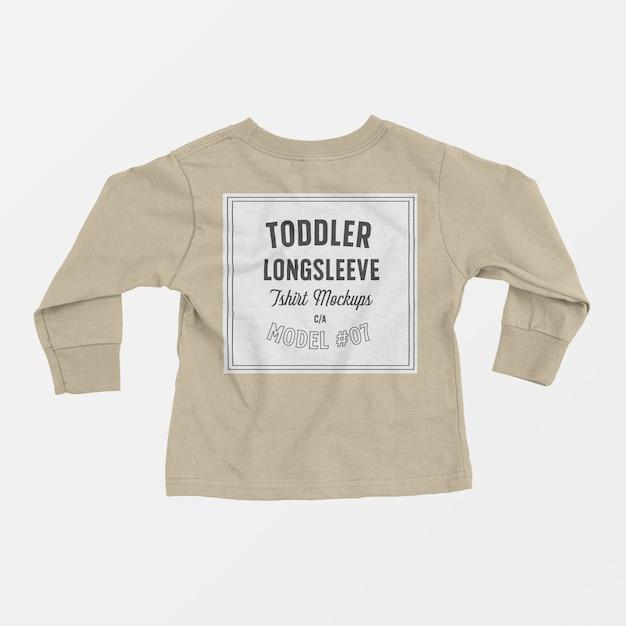 幼児長袖tシャツモックアップ 無料 Psd