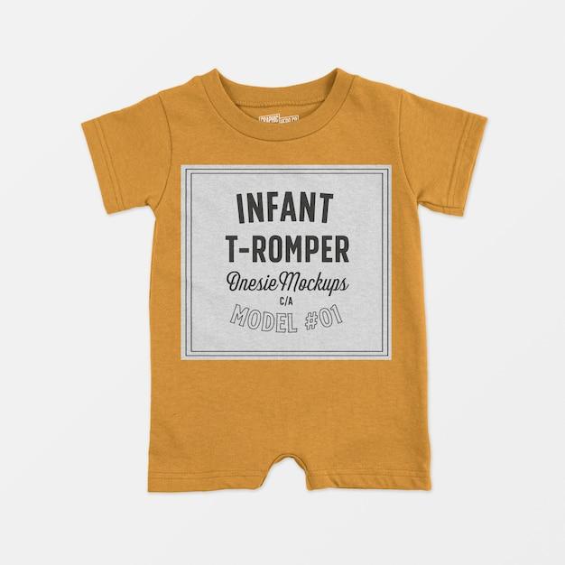 幼児tロンパースワンシーモックアップ 無料 Psd