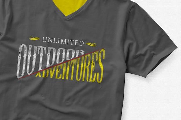 Tシャツのロゴがモックアップ 無料 Psd