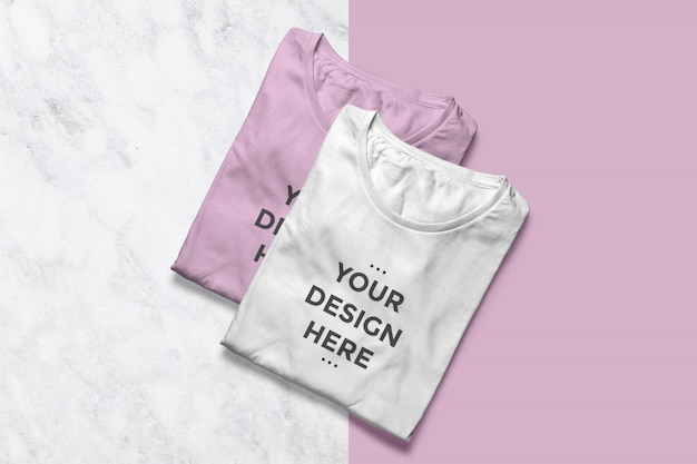 きれいなtシャツショーケースモックアップ Premium Psd