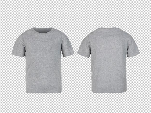 グレーのキッズtシャツの前面と背面のモックアップ Premium Psd