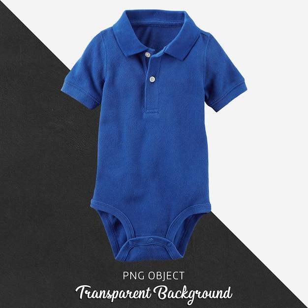 赤ちゃんや子供のための透明な青いポロシャツtシャツボディスーツ Premium Psd