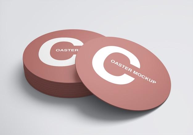 Table coaster mockup design template Premium Psd