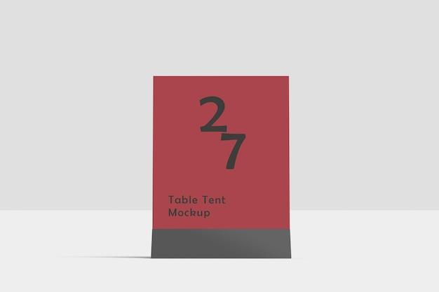Table tent mockup Premium Psd