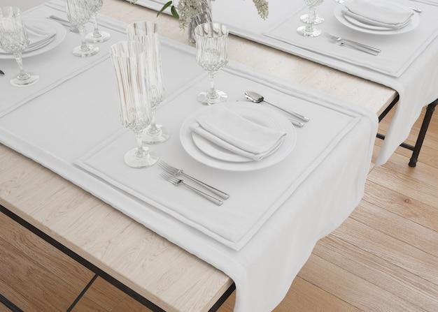 テーブルクロスランナーとナプキン 無料 Psd