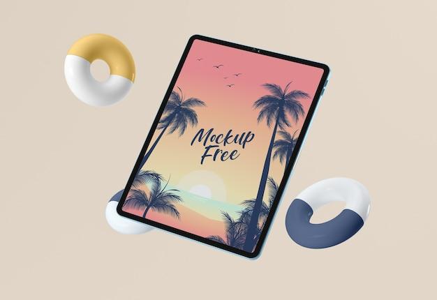 Disposizione dei tablet mock-up Psd Gratuite