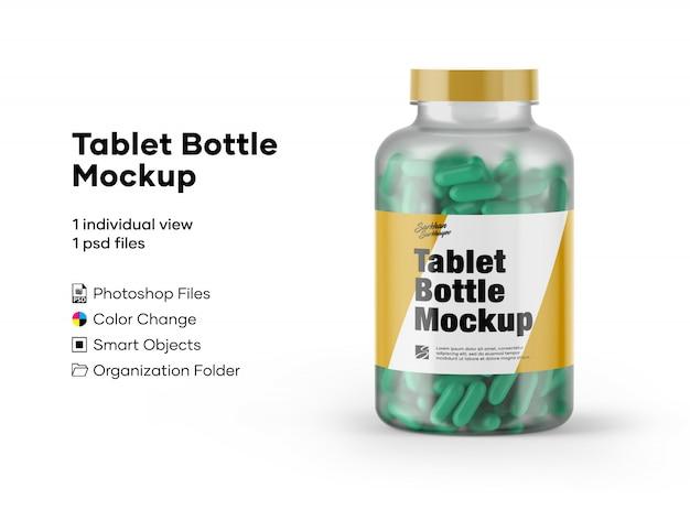 Макет бутылки для планшета Premium Psd