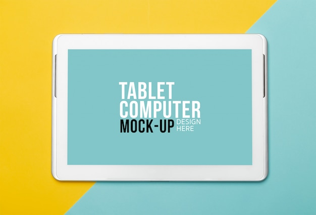 Tablet computer with screen mockup Premium Psd