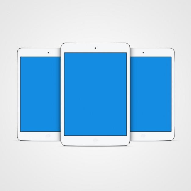 Tablet mock up di progettazione Psd Gratuite