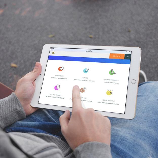 tablet screen mock up design psd file free download. Black Bedroom Furniture Sets. Home Design Ideas
