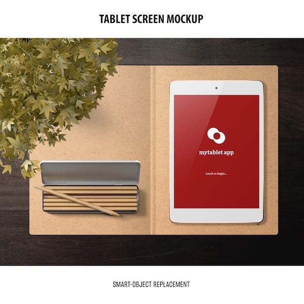 Mockup dello schermo del tablet Psd Gratuite