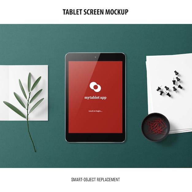 태블릿 화면 이랑 무료 PSD 파일