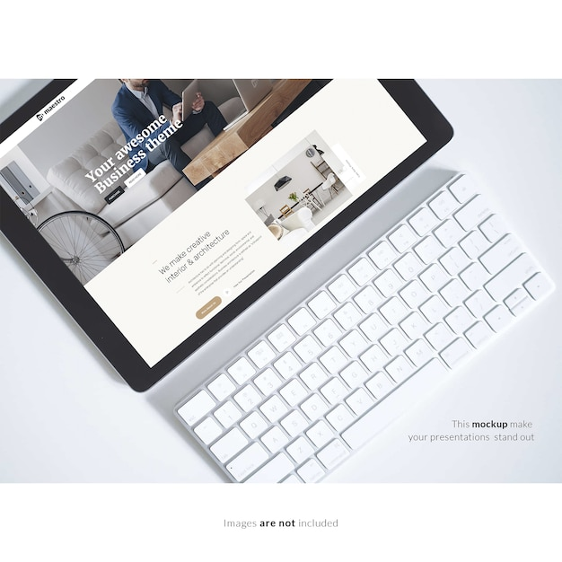 tablet with keyboard mock up 1307 251