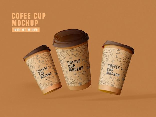紙のコーヒーカップのモックアップpsdをテイクアウト 無料 Psd
