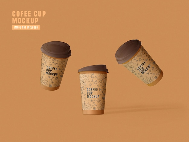 Take away paper coffee cup mockup psd Free Psd