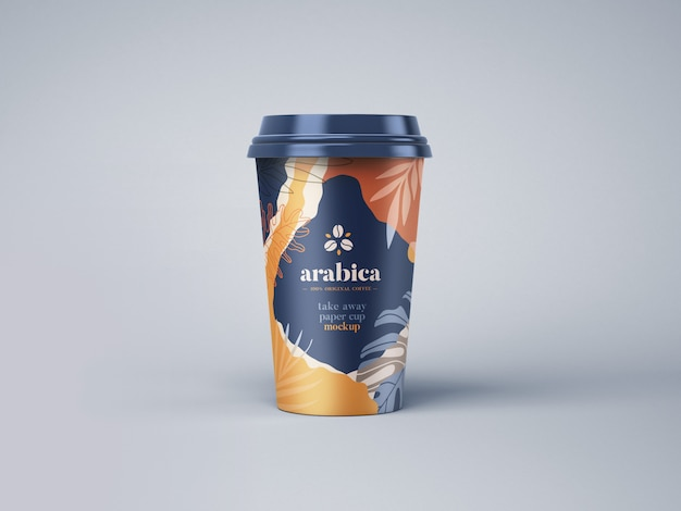 Take away paper coffee cup mockup Premium Psd