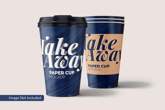Take away paper cup mockup Premium Psd