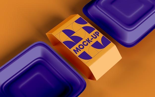 Takeout food box mockup Premium Psd