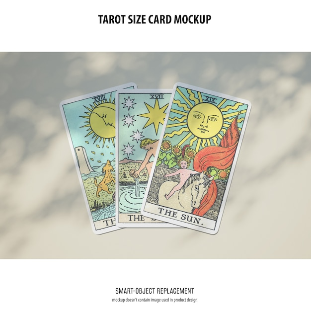 Tarot card mockup Free Psd