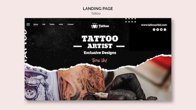 문신 아티스트 방문 페이지 템플릿 무료 PSD 파일